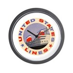 United States Lines Wall Clock