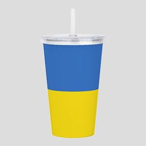 Ukraine Flag Acrylic Double-Wall Tumbler