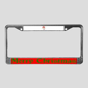 Santa & His Stocking Cap License Plate Frame