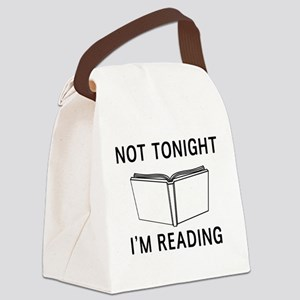 Not tonight I'm reading Canvas Lunch Bag