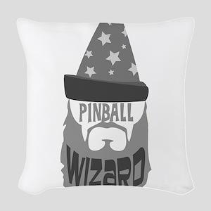 pinball wizard Woven Throw Pillow