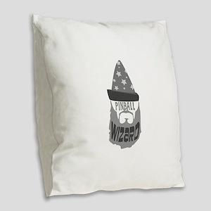 pinball wizard Burlap Throw Pillow