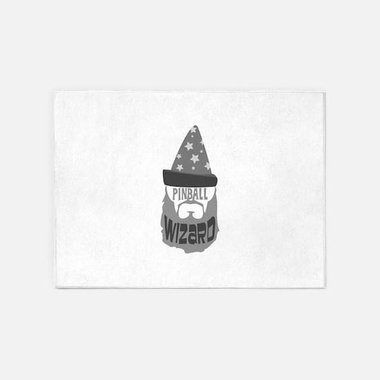 pinball wizard 5'x7'Area Rug