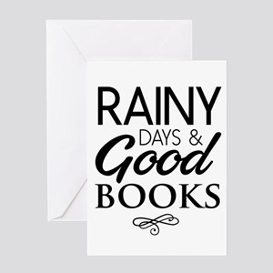 Rainy days and good books Greeting Cards