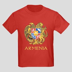 Armenian Coat of Arms Kids Dark T-Shirt
