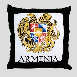 Armenian Coat of Arms Throw Pillow