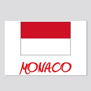 Monaco Flag Artistic Red Postcards (Package of 8)