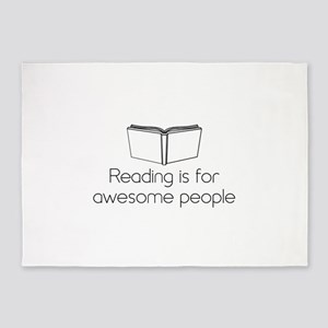 Reading is for awesome people 5'x7'Area Rug