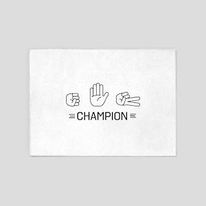 rock paper scissors champion. 5'x7'Area Rug