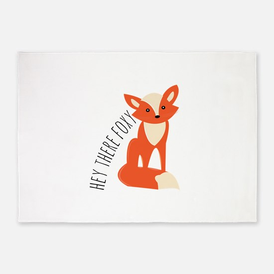 Hey There Foxy 5'x7'Area Rug