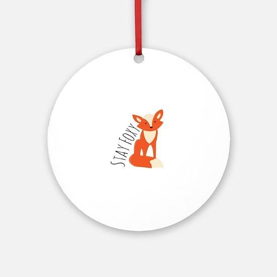 Stay Foxy Ornament (Round)