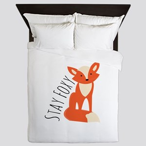 Stay Foxy Queen Duvet