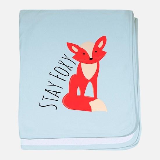 Stay Foxy baby blanket