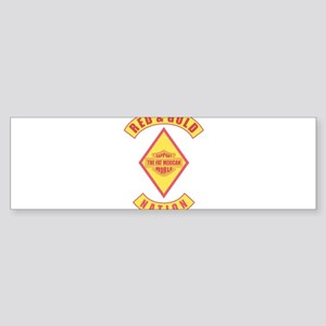Red and gold support Mexican Bumper Sticker
