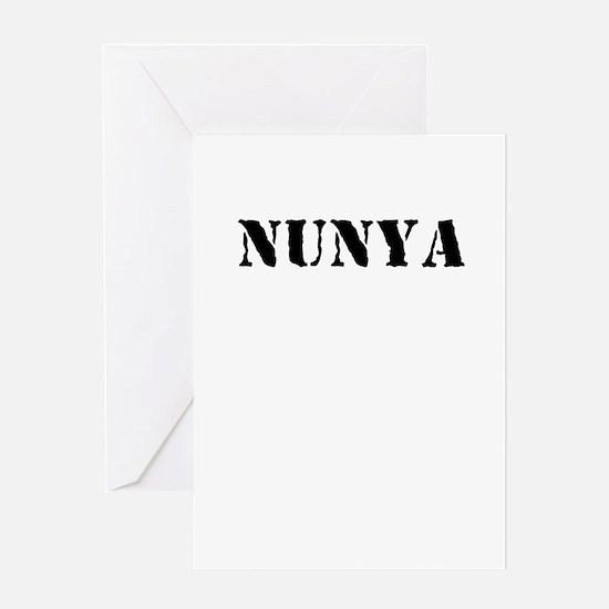 nunya Greeting Cards