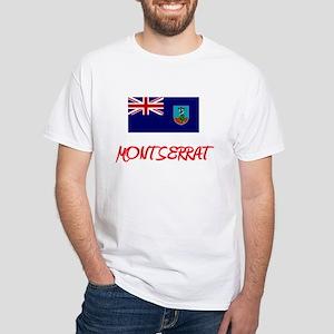 Montserrat Flag Artistic Red Design T-Shirt