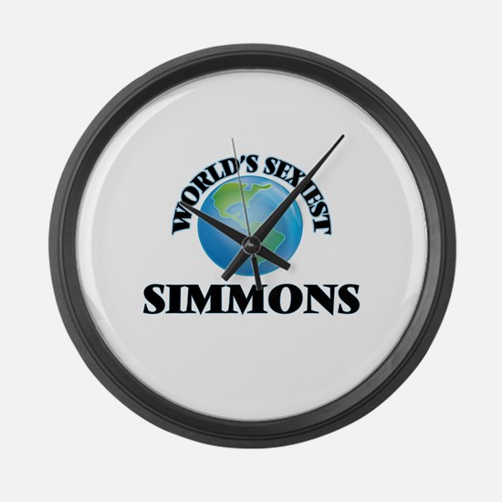 World's Sexiest Simmons Large Wall Clock
