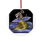 Golden Angel Ornament (Round)