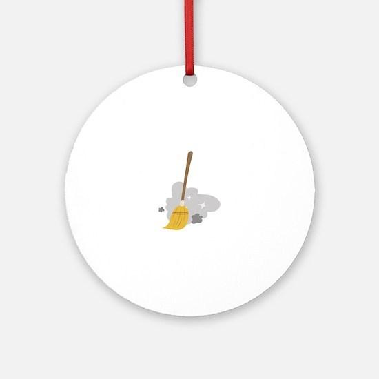 Sweep Broom Ornament (Round)