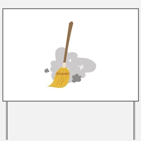 Sweep Broom Yard Sign
