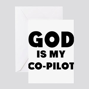 god is my co pilot Greeting Cards