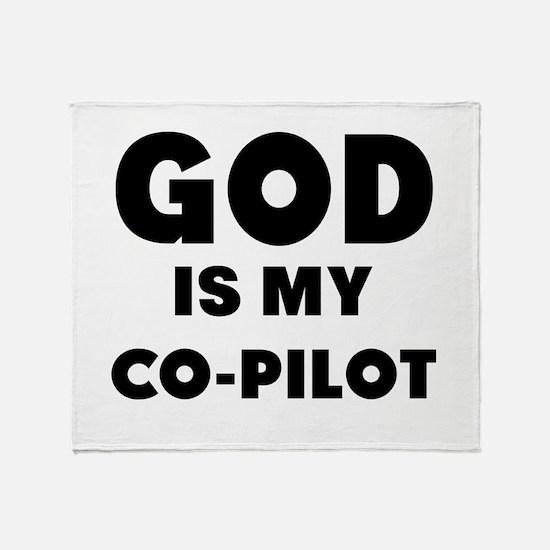 god is my co pilot Throw Blanket