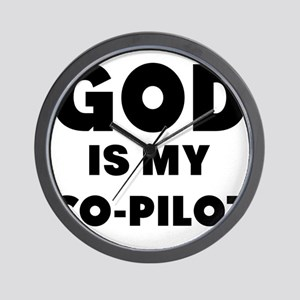 god is my co pilot Wall Clock