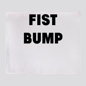 fist bump Throw Blanket