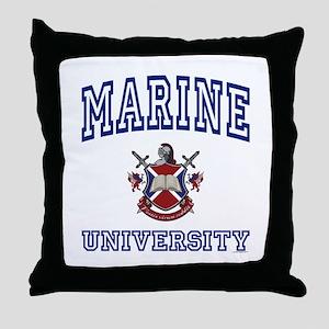 MARINE University Throw Pillow