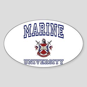 MARINE University Oval Sticker