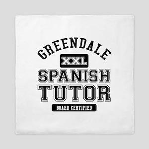 Greendale Spanish Tutor Queen Duvet