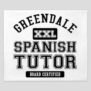 Greendale Spanish Tutor King Duvet