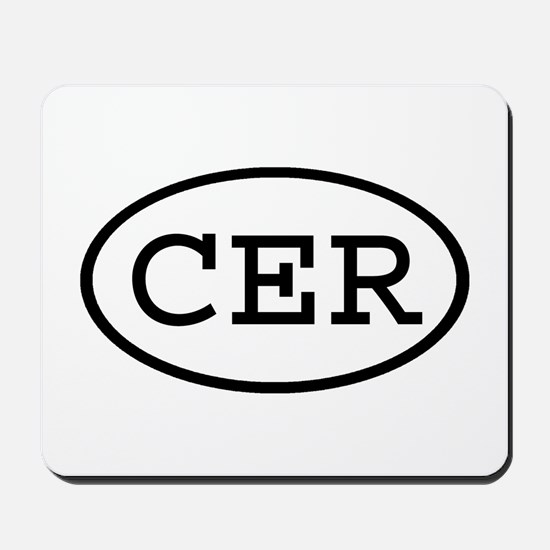CER Oval Mousepad