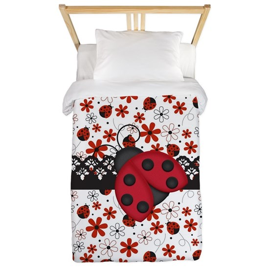 Charming Ladybugs and Red Flowers