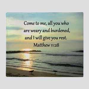 MATTHEW 11:28 Throw Blanket