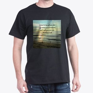 MATTHEW 11:28 Dark T-Shirt