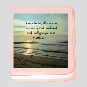 MATTHEW 11:28 baby blanket