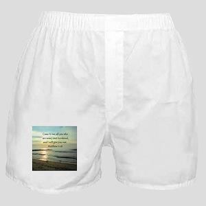 MATTHEW 11:28 Boxer Shorts