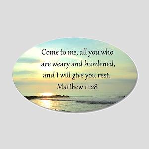 MATTHEW 11:28 20x12 Oval Wall Decal