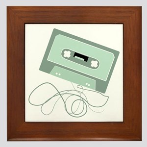 Cassette Tape Framed Tile