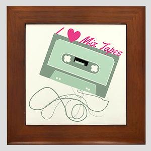I Love Mix Tapes Framed Tile