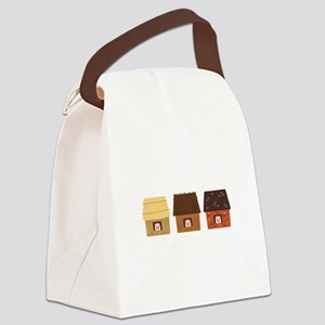 Three Pigs Canvas Lunch Bag