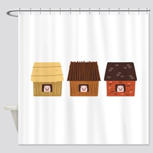 Three Pigs Shower Curtain