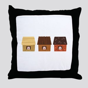 Three Pigs Throw Pillow