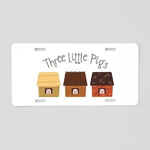 Three Little Pigs Aluminum License Plate