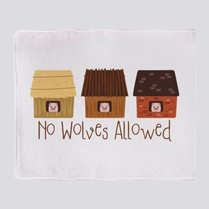 No Wolves Allowed Throw Blanket