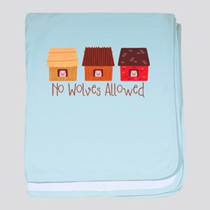 No Wolves Allowed baby blanket