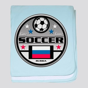 Live Love Soccer Russia baby blanket