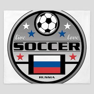 Live Love Soccer Russia King Duvet