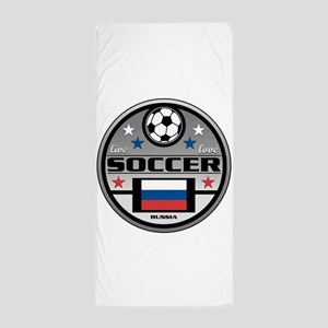 Live Love Soccer Russia Beach Towel